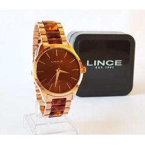 Relógio Lince Feminino Rose Lince Original Luxo Lrr4381l