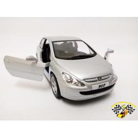 Miniatura Peugeot 307 Xsi Prata Kinsmart 1:32