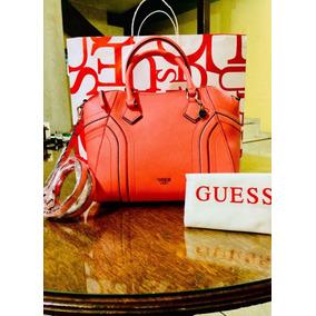 Bolso Original Marca Guess, Color Rojo. Envío Gratis.