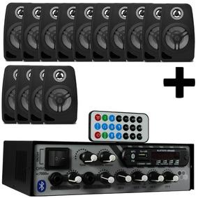 Kit 3 Rc7000 Bt 500 Watts Bluetooth + 14 Caixas Preta