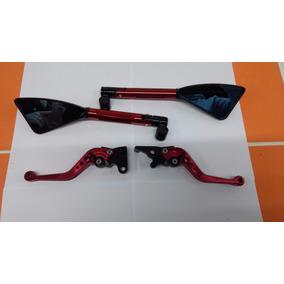 Kit Retrovisor Rizoma Vermelho+manete Cb300r/twister/cbx-200