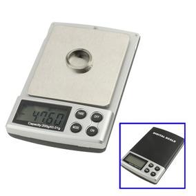 Bascula Electronica Joyeria Digital Bolsillo 200 0,01 Negro