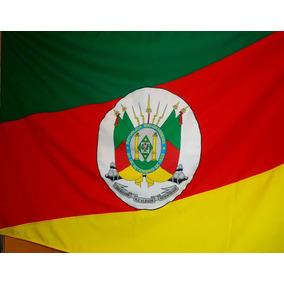 Bandeira Do Rio Grande Do Sul - Mastro 220cm Suporte Parede