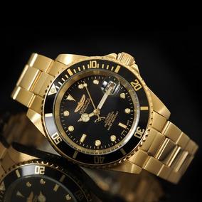 Relógio Invicta Pro Diver Gold Automatic 8929ob Banhado Ouro