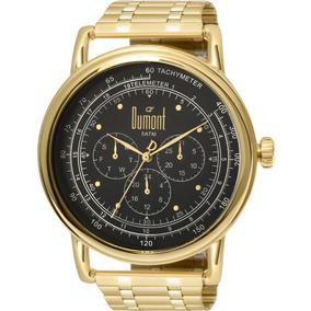 Relógio Dumont Masculino Dourado E Preto Nfe Du6p29acb/4d