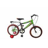 Bicicleta Infantil Bravia Montaña Rodada 16 Para Niño Casco