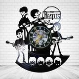 Reloj Vinil De Pared Beatles
