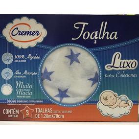 Caixa Toalha Fralda Cremer Azul
