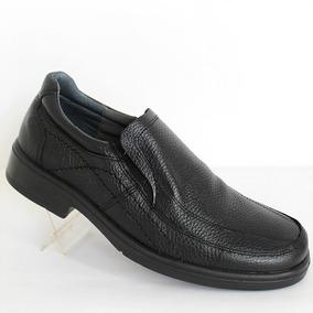 Calzado Caballero La Pag Mocasín Negro Mod709 Cómodo Cosidos