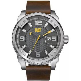 Reloj Cat Sc.141.35.521 Piel Café Acero Plateado P/caballero