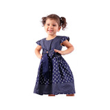 Kit 3 Vestido Festa Infantil Azul Vermelho Diversos Modelos