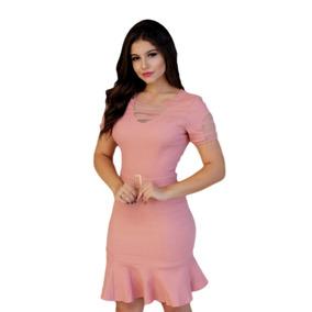 Vestido Evangelico Com Cinto Moda Joven Roupas Feminina