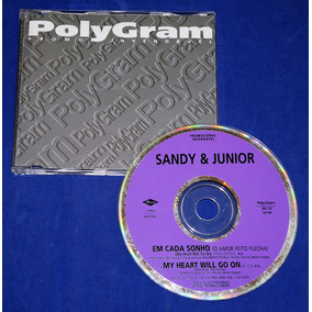 Sandy & Junior - Em Cada Sonho - Cd Single - 1998 - Promo