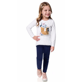Conjunto Infantil Menina Milon Blusa E Calça 4 A 12 Anos 486b259ddef
