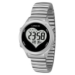 ca4336a9015 Relogio Feminino Lince Prata Digital Redondo - Relógio Lince no ...