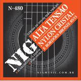 Nig Encordoamento Violão Nylon Tensao Alta N480