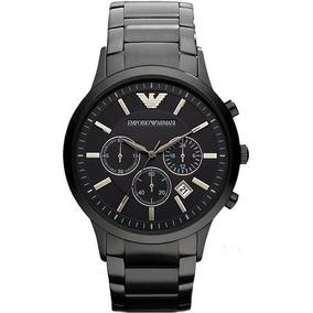 6396e18e8e0 Relógio Empório Armani Preto Aço Ar0334 Original Ar 0334 - Relógios ...