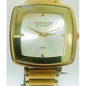 5823cc7bac6 Relogio Technos Dourado Quadrado Feminino - Relógios De Pulso no ...