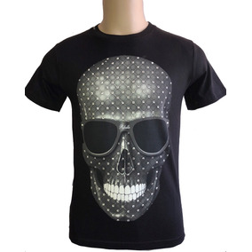 Camiseta Masculina Black Skull Ribello Reservada Importada