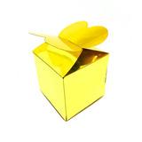 Caja Dorada Mariposa Para Dulces Candy Bar Catering 50 Pzas