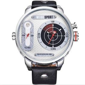 Relógio Masculino Weide Wh-3409 Analógico Prata E Branco