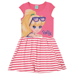 Vestido Polly Pocket Em Cotton Stretch E Light New Alto Verã