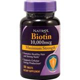 Biotin Natrol 10,000mcg 100 Unidades Importado De Usa