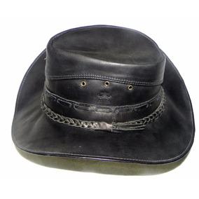 Chapeu Peão Country Rodeio Cowboy Couro Legitimo Natural