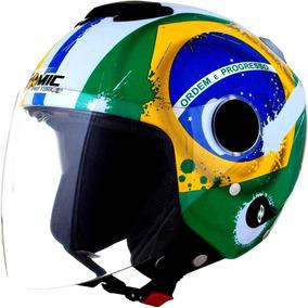Capacete New Atomic Preto Fosco Brasil Promoção