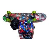 Skate Infantil Vingadores + Kit Segurança Frete Grátis