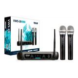 Microfone Sem Fio Vokal Vws-20 Plus Duplo Vhf Profissional