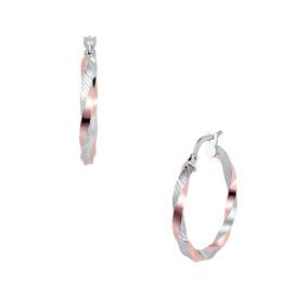 Arracadas De Espiral Oro Blanco Y Rosa-or9129720rw