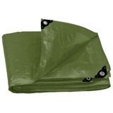 Lona De Uso Rudo, Verde Olivo240 G/m², 4 X 6 M Truper 16376