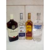 Kit C/4(ballantines 1l+1absolut 1l+2 José Cuervo Pta E Ouro)