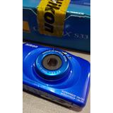 Cámara Nikon Coolpix S33. Acuatica, 13.2mp, Fullhd