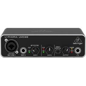 Interface De Áudio Behringer U-phoria Umc22 Midas Usb Umc 22