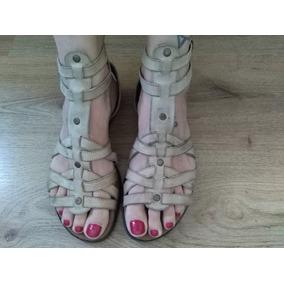 6ade04f3f5 Atar Tipo Gladiadora Poco Uso Chatas Sandalias Con Tiras P - Zapatos ...