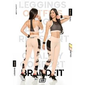 Conjunto De Lujo Deportivo Lycra Malla 2pzs Legging Y Top