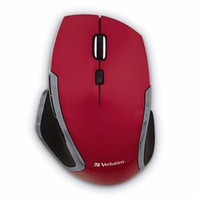 Mouse Inalambrico Led Azul 6 Botones Rojo Verbatim 99018