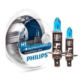Lâmpada Philips Crystal Vision Ultra H1 4100k 12v 55w + W5w