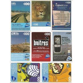 Uruguai 8 Cartões Telefônicos Para Celular Diferentes Lote 3