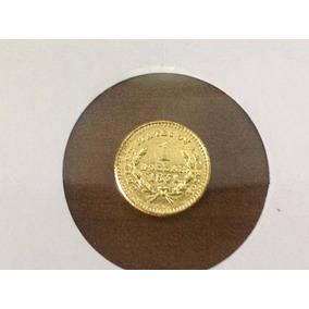 Magnífica Moeda De U$ 1,00 - U S A Banhada Ouro Réplica 1851