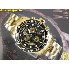 f935f83a62f Relogio Masculino Cor De Ouro Fundo Preto - Relógios De Pulso no ...