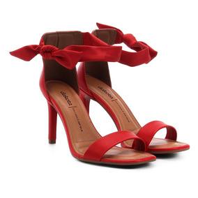 d0d423320 Sandalia Laço Salto Fino - Sapatos Vermelho no Mercado Livre Brasil