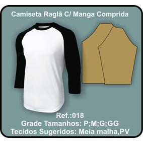 Molde Camiseta Raglã C/ Manga Comprida 018