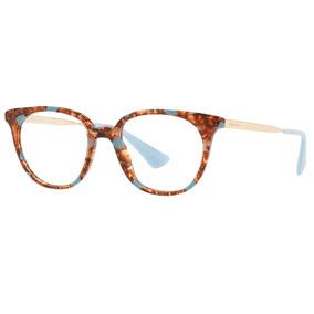 3c7ad5f63f828 Armacao Oculos Azul Prada - Óculos no Mercado Livre Brasil