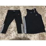 Conjunto Regata Bermuda Fitness adidas Climalite Lindo Kit