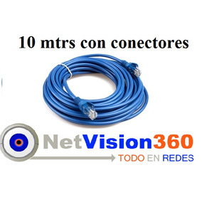Cable Utp 10 Mts Con Conectores Para Internet Modem Routers