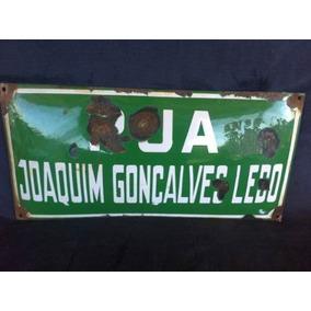 Placa De Rua Antiga Joaquim Gonçalves Ledo Esmaltada