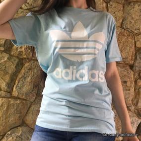 Camiseta adidas Azul Bebê Promoção Oferta Imperdível 685fd9a537e5f